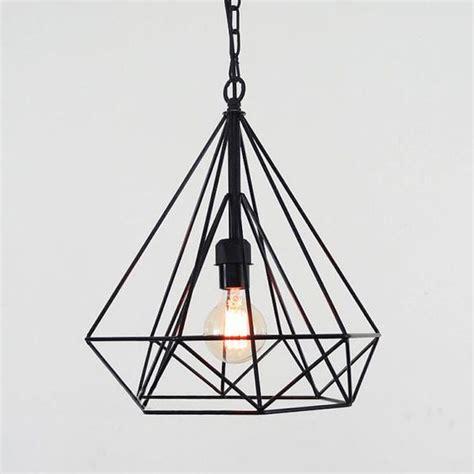 wire cage pendant light geometric minimalist