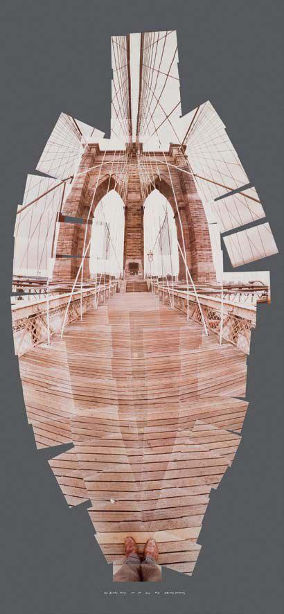 david hockney brooklyn bridge year  cubist photography