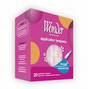 Wonder Super Applicator Tampons With Smooth Plastic Guide