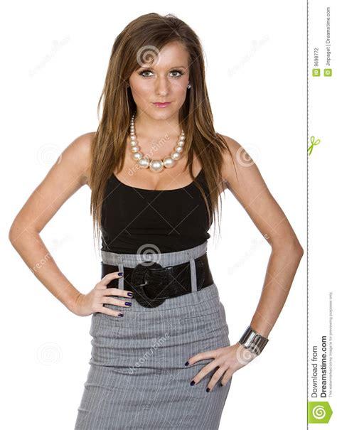 femme de bureau femme mignon dans le vêtement de bureau photographie stock