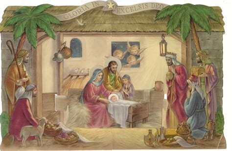 christmas mangers for sale the estate sale chronicles the vintage paper nativity