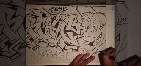 Graffiti Pensil : How To Draw A Bmac Graffiti Tag In Pencil And Pen With