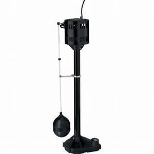 Flotec Pedestal Sump Pump  U2014 3 480 Gph  1  3 Hp  1 1  4in