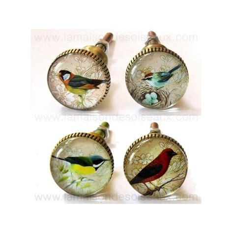 boutons de meubles de cuisine boutons de meuble oiseaux en verre chehoma