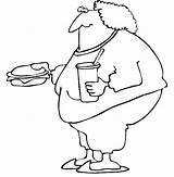 Fat Eating Boy Coloring Fast Cartoon Netart Boys Box Lunch Kidsplaycolor sketch template