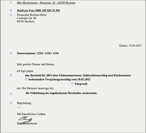 Einspruch Gegen Den Steuerbescheid by Einspruch Muster