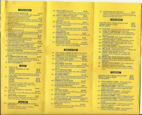 cuisine menu tom yum cuisine menu menu for tom yum cuisine