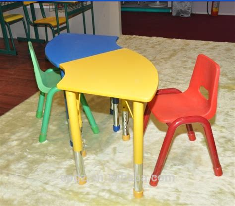 c shape children table and chair set painted