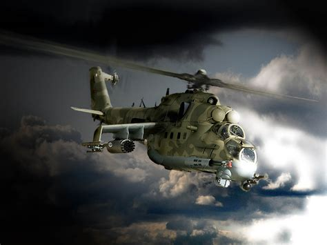Mi 24 Hind Helicopter