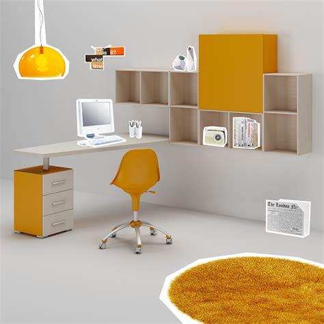 bureau ado design posé sur bloc 3 tiroirs