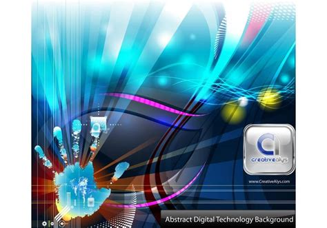abstract digital technology vector background