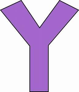 Purple Letter Y Clip Art - Purple Letter Y Image