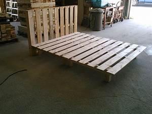 Comment Faire Un Lit En Palette : comment fabriquer un lit en bois ~ Nature-et-papiers.com Idées de Décoration