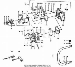 Poulan 405 Gas Chain Saw Parts Diagram For Chain Brake