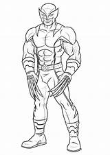 Marvel Coloring Pages Characters sketch template