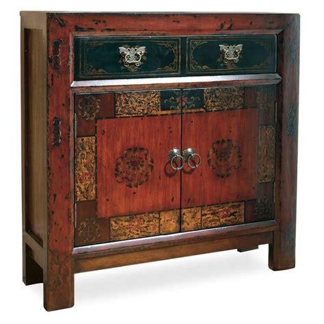hooker furniture asian  door drawer hall accent cabinet