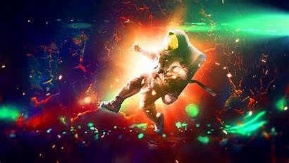 Bright Astronaut Flash Colorful 4k Sparks Ultra