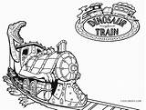 Train Coloring Pages Dinosaur Printable Cool2bkids sketch template