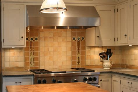 Van Briggle Style Kitchen Backsplash-craftsman-tile