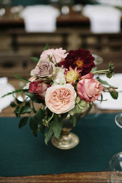 autumn wedding  shades  gold wedding centerpieces