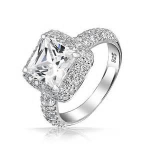 diamonique engagement rings silver pave engagement rings diamonique 5