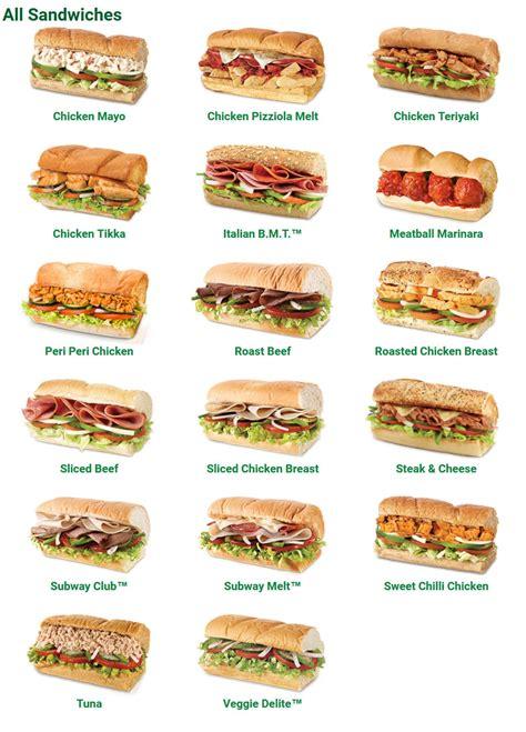 Subway Menu Offers & Specials