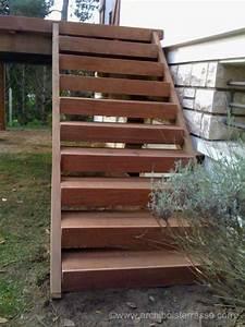 Escalier Terrasse Bois : terrasse sur pilotis poteau ou suspendue agrandir la maison ~ Nature-et-papiers.com Idées de Décoration