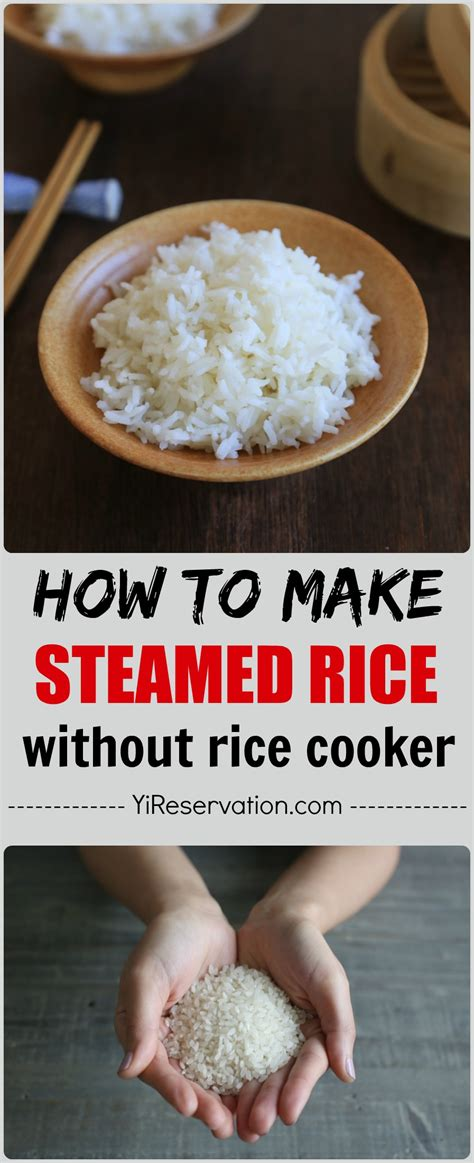 how to steam rice how to make steamed rice without rice cooker 米飯 yi reservation