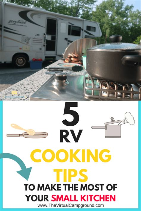 rv cooking tips       small kitchen  virtual campground