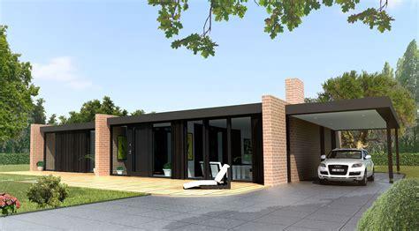 maison contemporaine toit plat plain pied ventana