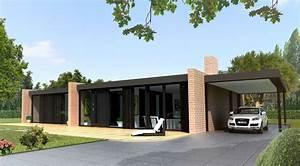 maison contemporaine de plain pied a toit plat le monde With photo maison toit plat 4 de maison originale avec piscine toit plat e4