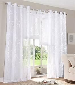 Gardinen Mit ösen : 2 st gardine store 140 x 225 wei ausbrenner vorhang sen schal ste motiv neu ebay ~ Indierocktalk.com Haus und Dekorationen