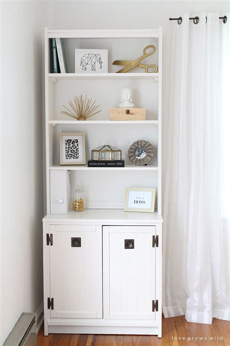 White Bookcase Cabinet by Office Cabinet And Bookcase Makeover Grows