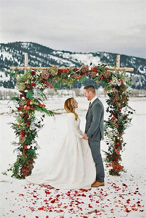 stunning christmas themed winter wedding ideas page