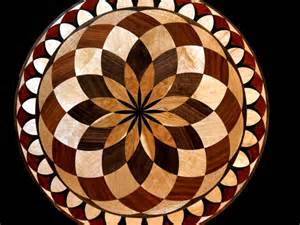 wood floor medallions inlay designs