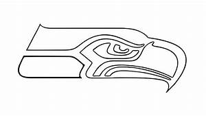 How To Draw The Seattle Seahawks Logo Nfl Youtube