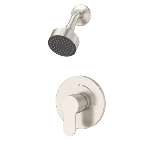 moen kitchen sink symmons identity 1 handle shower faucet trim in satin 4260