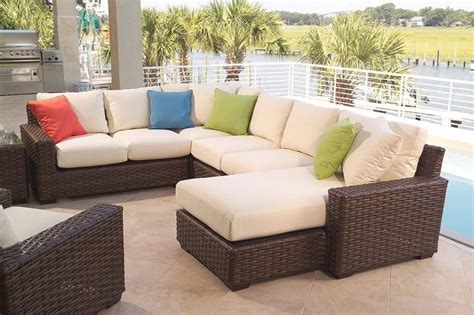Patio Furniture Loveseat Clearance by 25 Best Ideas Of Outdoor Sectional Sofa Home Depot