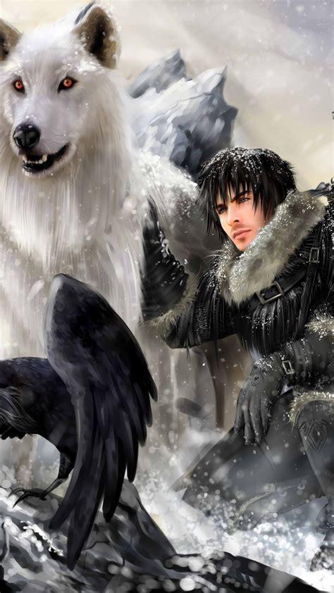 winter  coming john snow game  thrones illustration