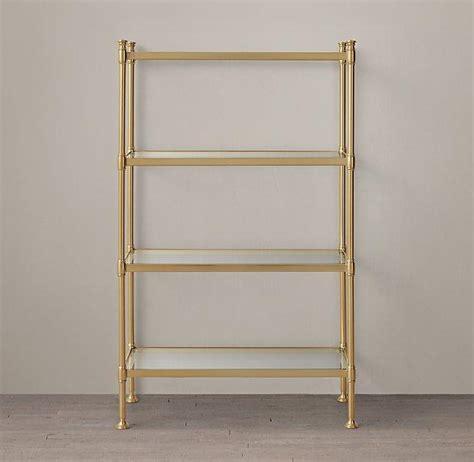 Brass Etagere by Beautiful Brass Etagere Glass Shelves Iz61