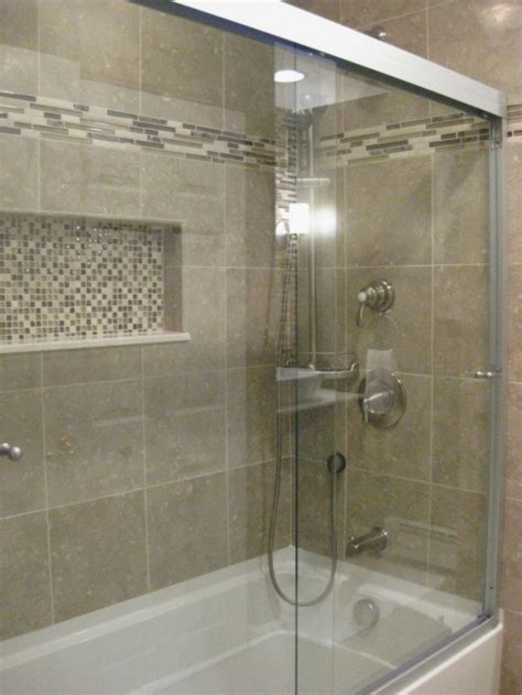 cozy small bathroom shower  tub tile design ideas