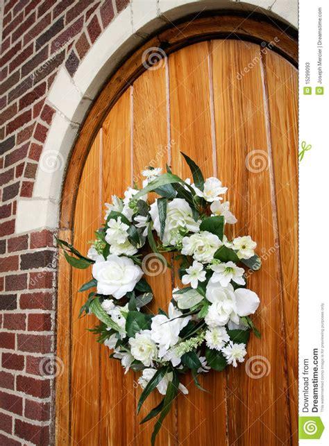 wedding wreath  door stock  image