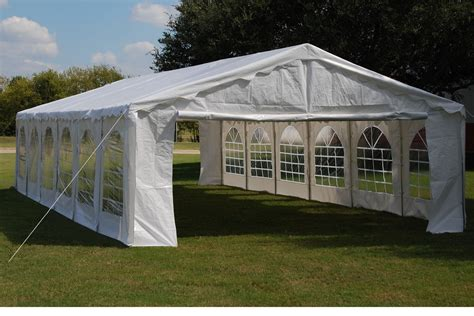 budget pe party tent wedding canopy shelter  waterproof top white  ebay
