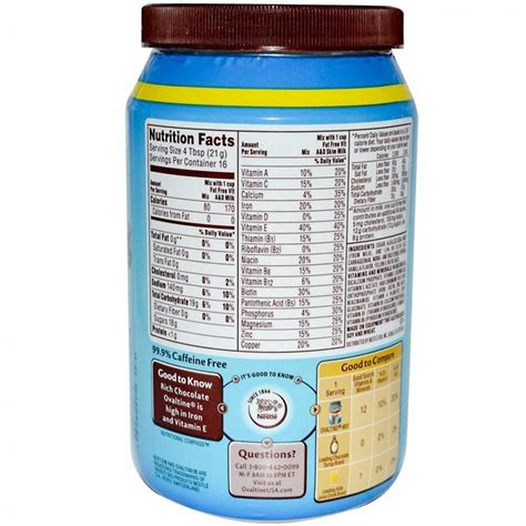 Wood Food Pantry by Nestle Rich Chocolate Ovaltine Powder 12 Ounce Powdered
