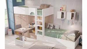 Barriere Lit Superposé : lit superpos design avec bureau compact tendance ~ Premium-room.com Idées de Décoration