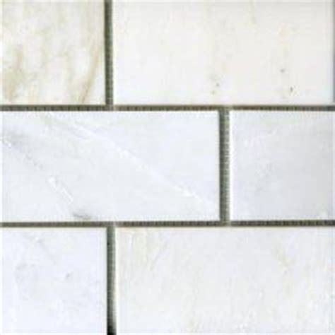 home depot marble tile subway subway 3x6 quot calcutta white marble tiles 7 25sf