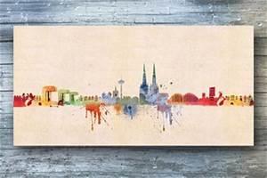 Leinwand Köln Skyline : k lner skyline aquarell leinwand von kunstbruder ~ Sanjose-hotels-ca.com Haus und Dekorationen