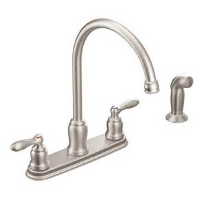 Moen Two Handle Kitchen Faucet Repair Caldwell Spot Resist Stainless Two Handle High Arc Kitchen Faucet Ca87060srs Moen