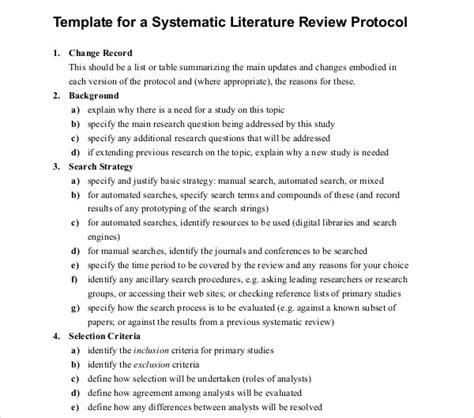 literature review outline templates
