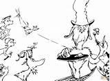 Ham Eggs Coloring Printable Seuss Dr Characters Drawing Supercoloring Hat Cartoon Horse Categories Dot Paper sketch template
